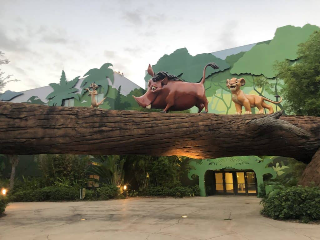 Statues of Timon, Pumba, and Baby Simba from Lion King