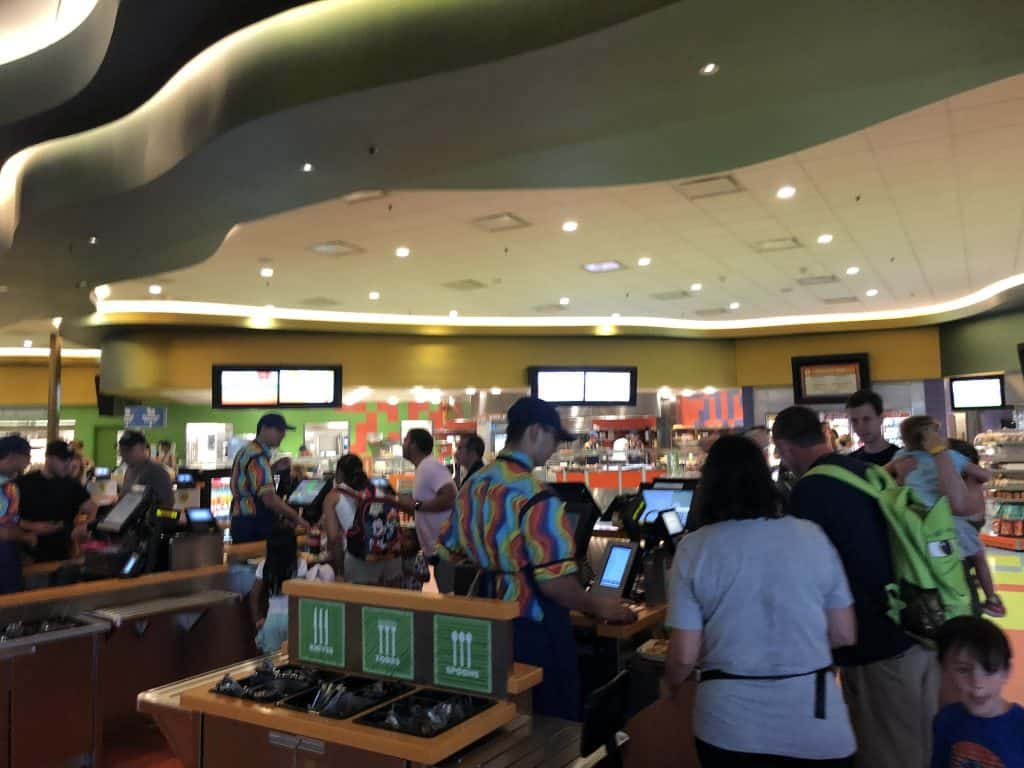 Art of Animation food court registers