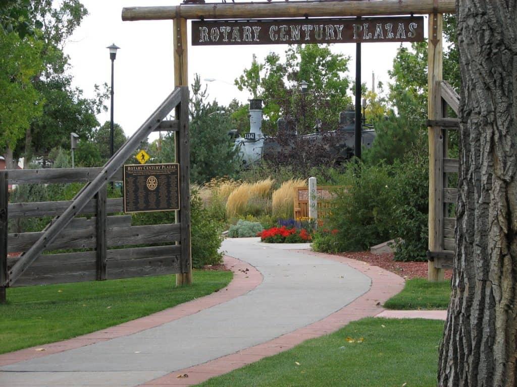 Cheyenne Botanic Gardens Century Plaza entry