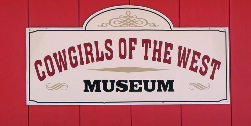 Cowgirls of the West Museum sign