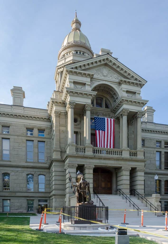 Exterior of Wyoming State Capitol