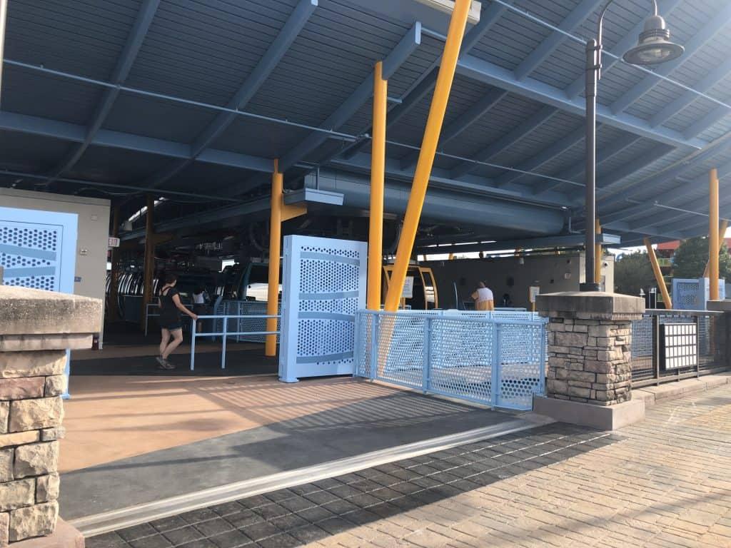 Disney's Art of Animation resort and Pop Century Skyliner station interior