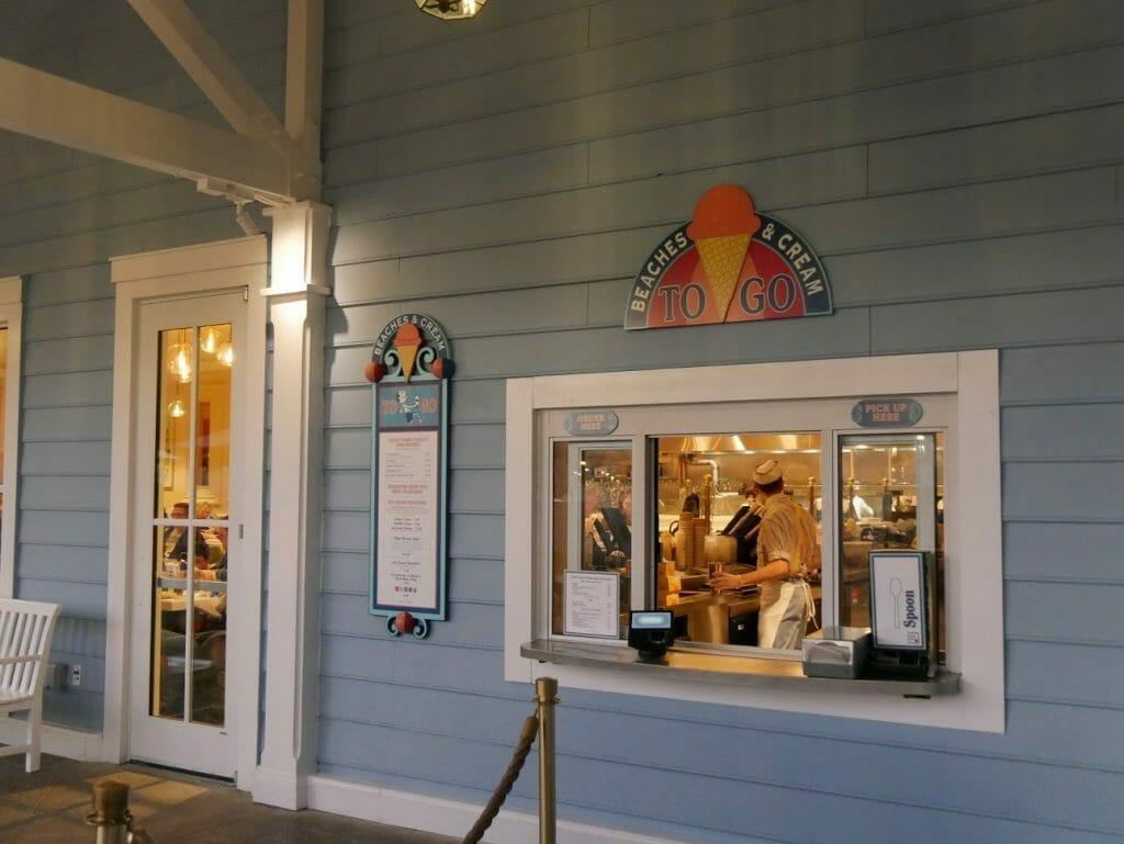 Beaches and Cream ice cream ordering window