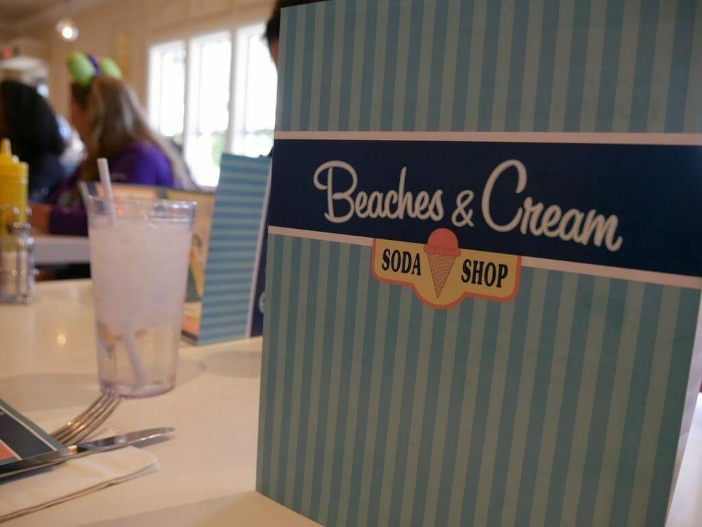 Beaches and Cream Beach Club menu