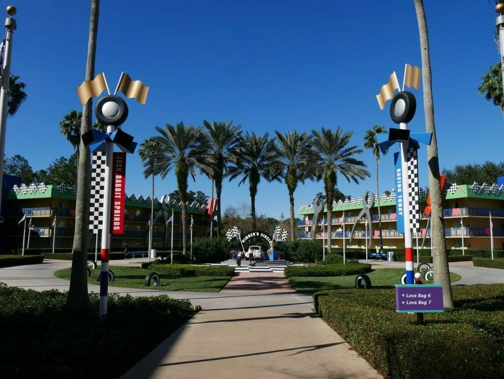 Disney All-Star Movies resort Herbie area