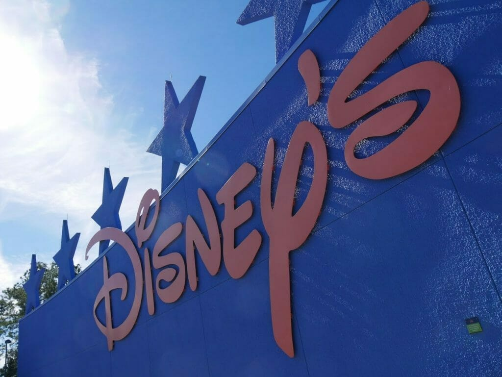 large Disney sign at All-Star Movies