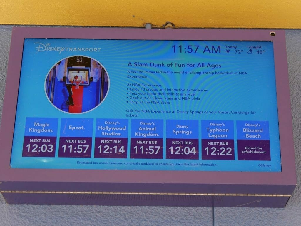 All-Star Movies review bus transportation times display