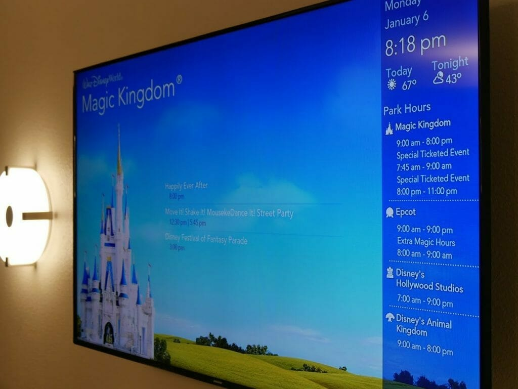 Disney All-Star movies room review TV on wall