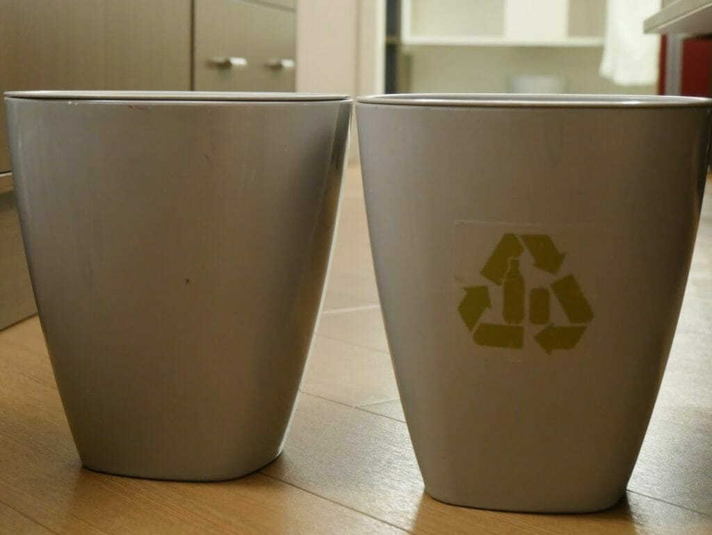 Disney All-Star movies room review trash and recycling