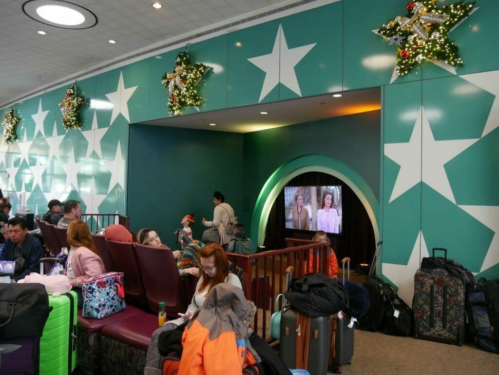 Disney All-Star Movie Resort Lobby TV watching area