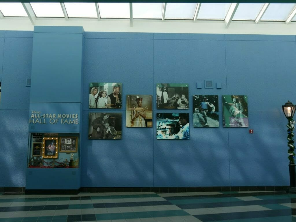 Disney All-Star Movie Resort Lobby Hall of Fame display area