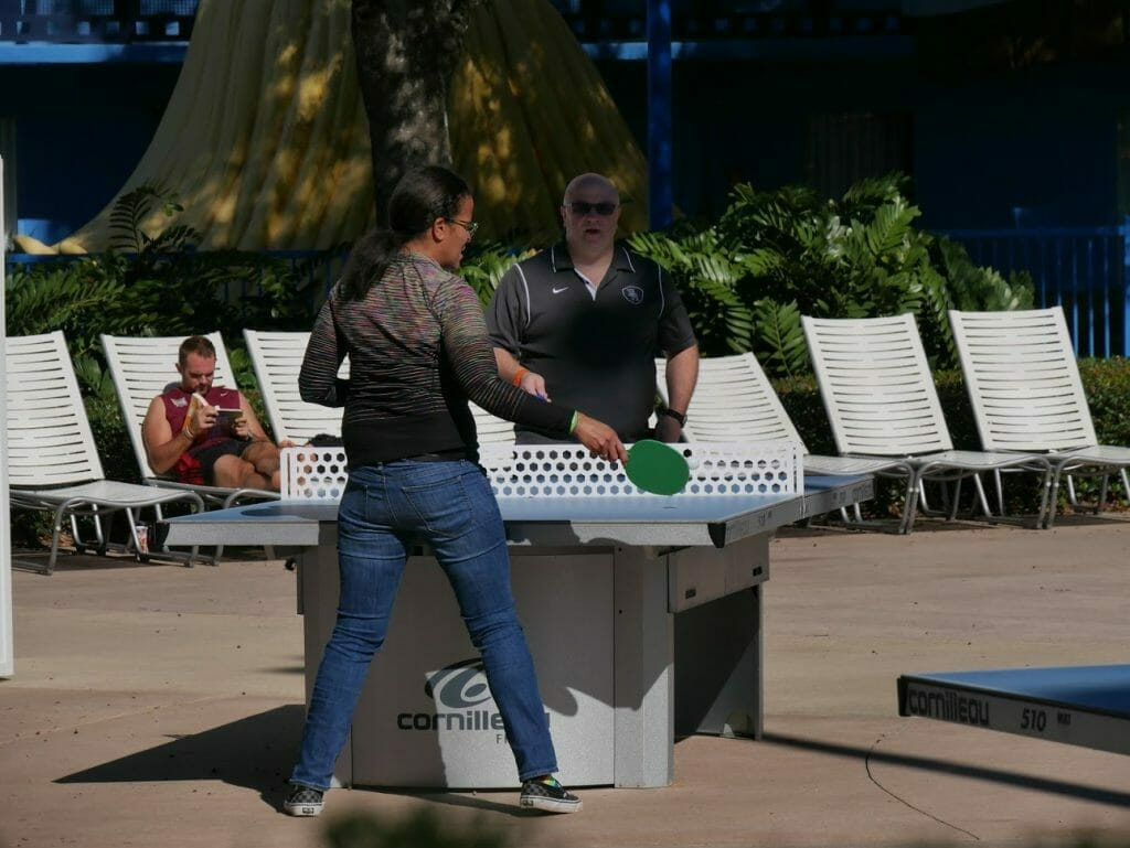 All-Star Movies resort review people playing table tennis