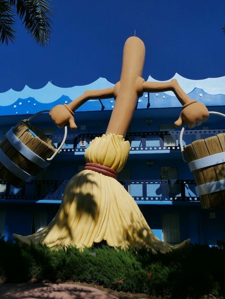 Gigantic Fantasia broom at Disney All-Star Movies