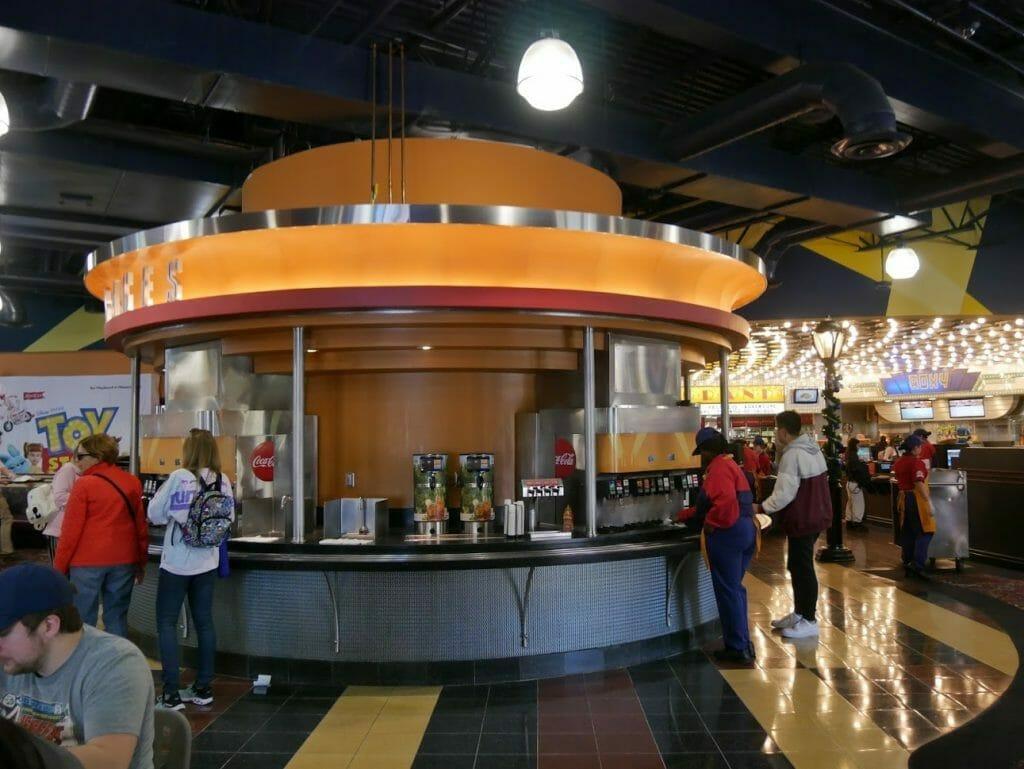 Disney World All Star Movies Resort Food Court drinks area