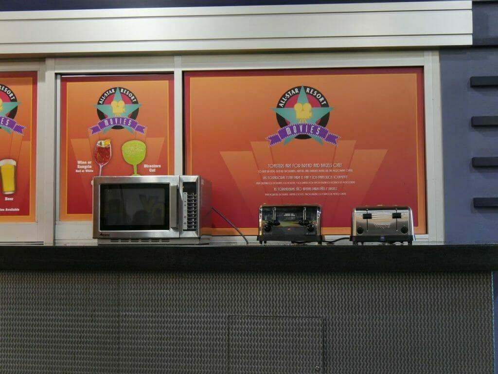 Disney World All Star Movies Resort Food Court microwave