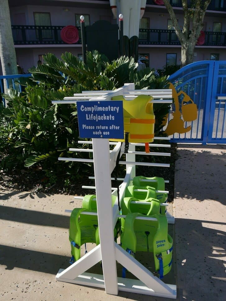 Disney All-Star Movies pool review life jackets