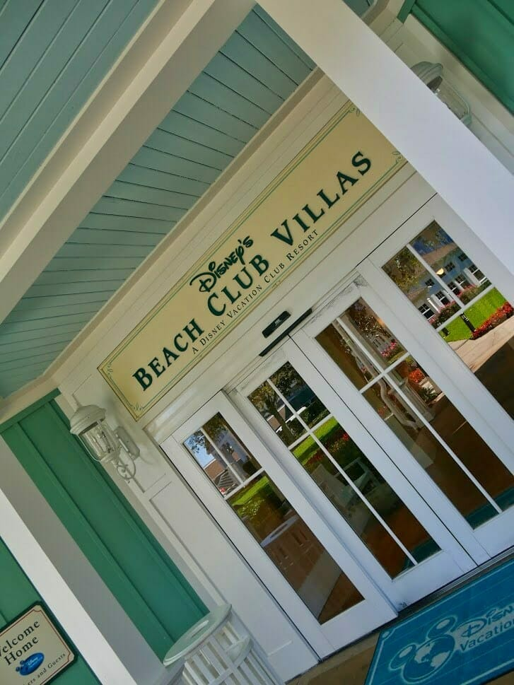 Beach Club Villas Disney Vacation Club entrance