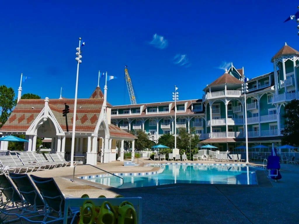 The swimming pool at Beach Club Villas