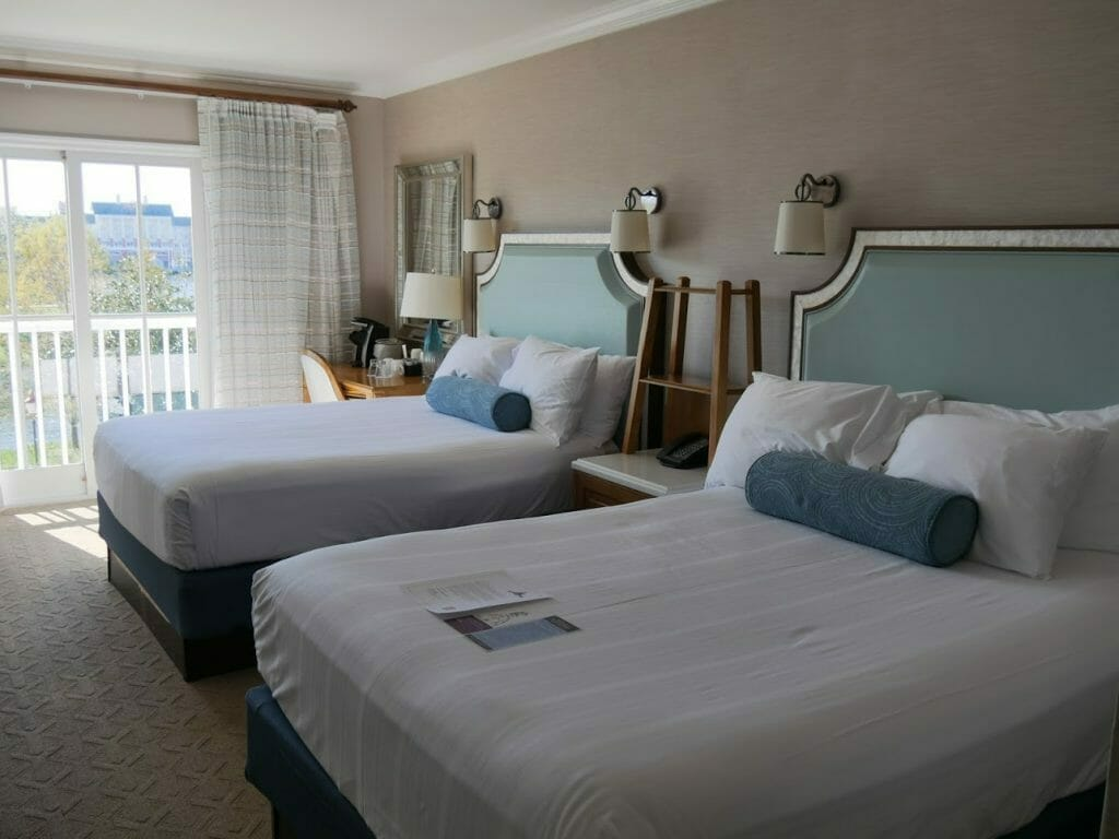 A hotel room at Beach Club Resort Disney World Orlando