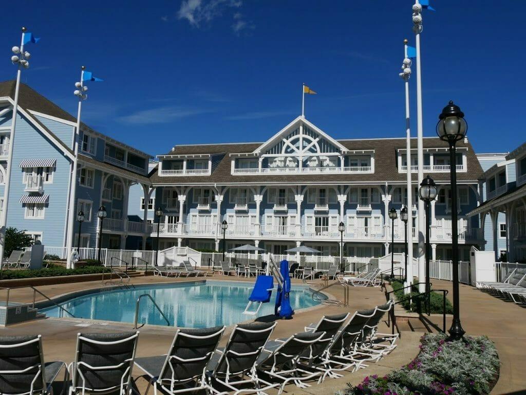 A smaller pool at Beach Club resort Disney World