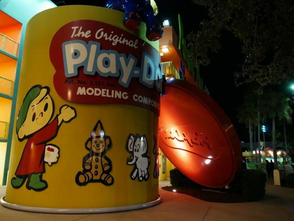 A big Play-Doh can model at Disney's Pop Century Resort Orlando Florida Disney World