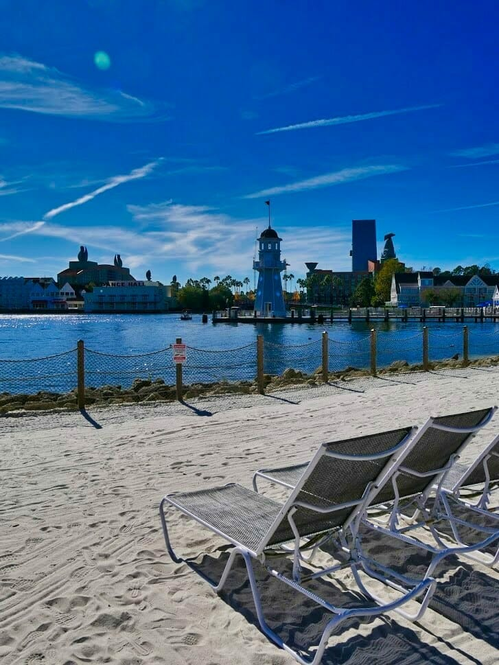 The Beach Club beach with deck chairs
