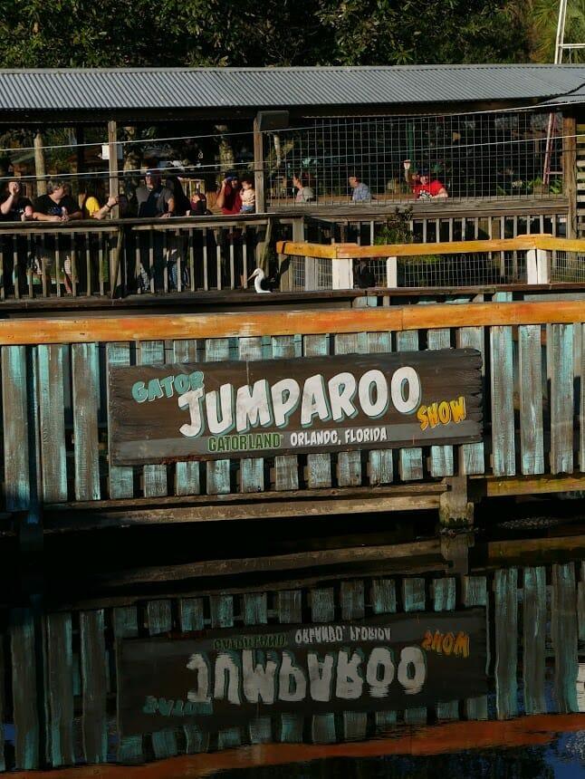 """Gator Jumparoo Show Gatorland Orlando Florida"" sign"