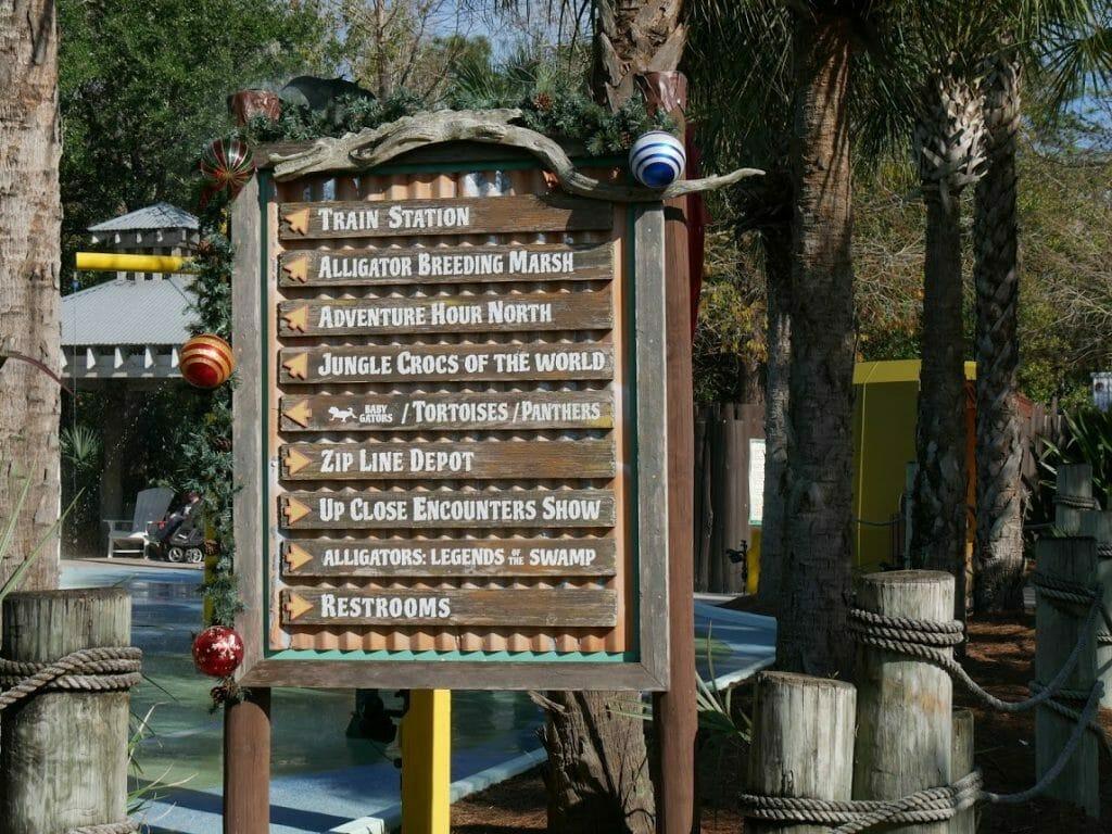 The map at Gatorland