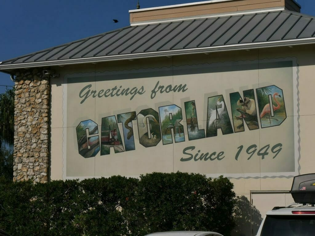 "Gatorland Orlando sign ""Greetings from Gatorland Since 1949"""