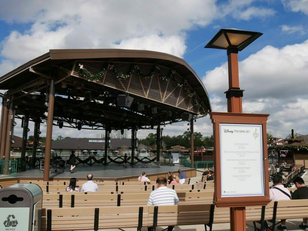 Concert area at Disney Springs at Disney World