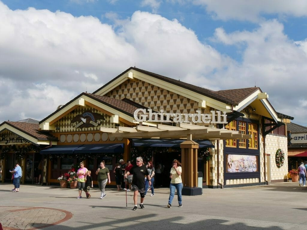 Ghirardelli store at Disney Springs Florida