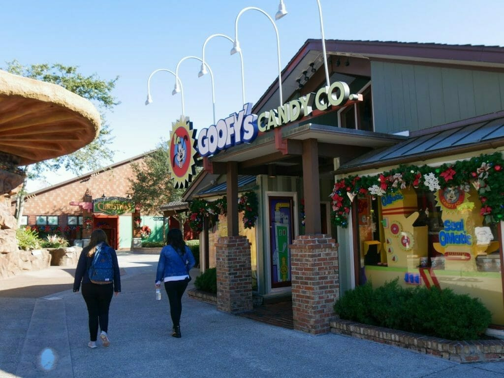 Entrance to Goofy's Candy Co at Disney Springs Disney World