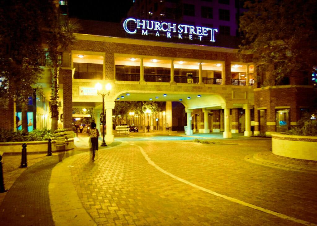 Church Street Market at night