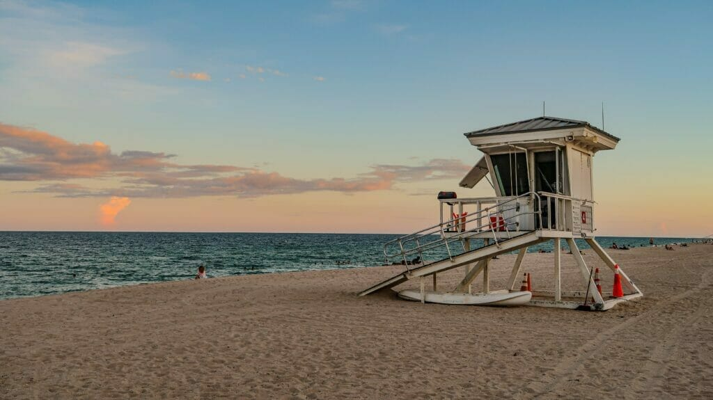 beach hut on Florida beach