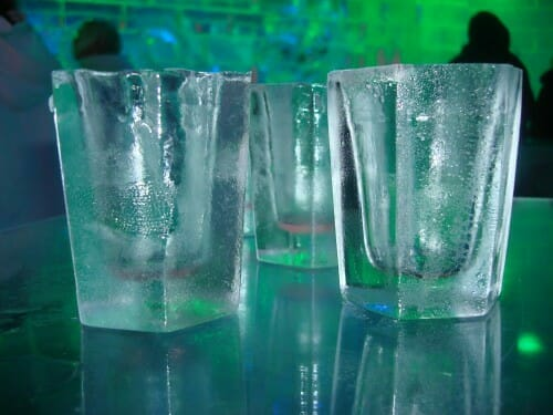 ice glasses at Ice Bar Orlando