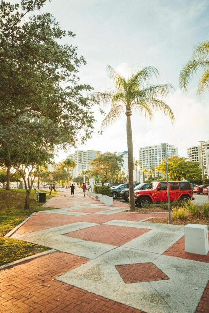 street in Sarasota Florida