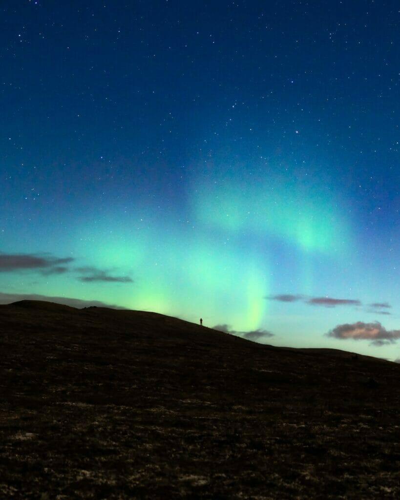 northern lights above kobuk valley