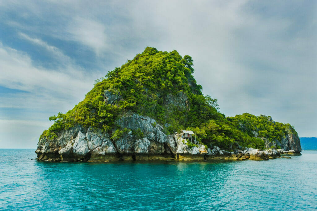 island with greenery on it
