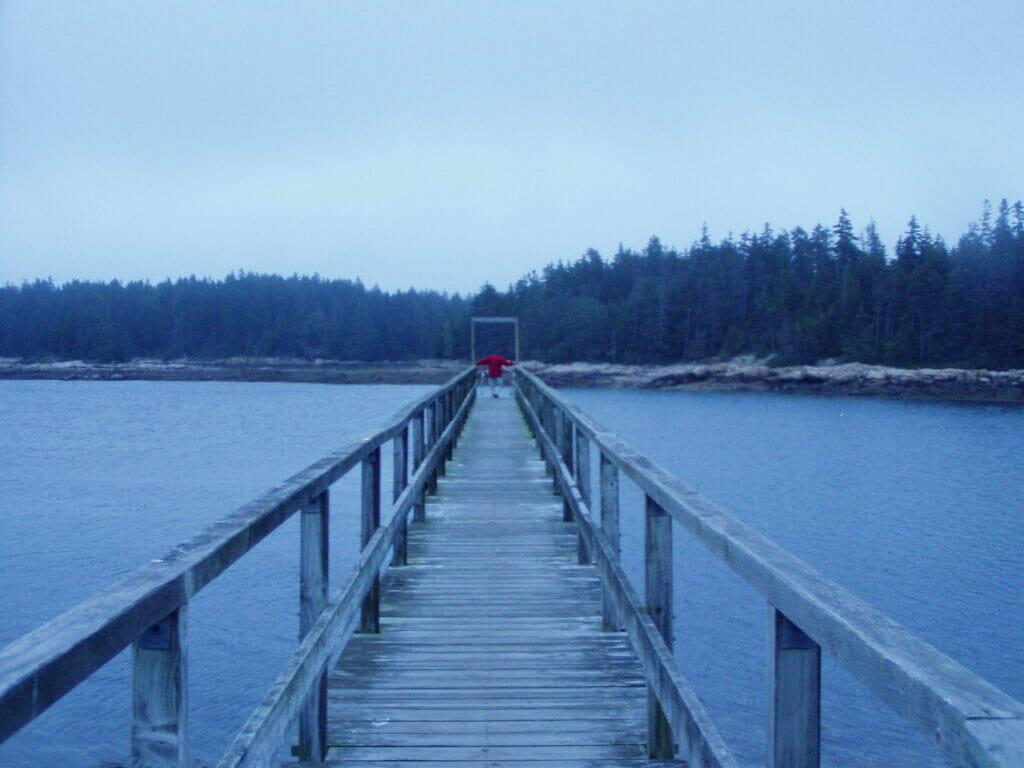 boardwalk in Acadia National Park