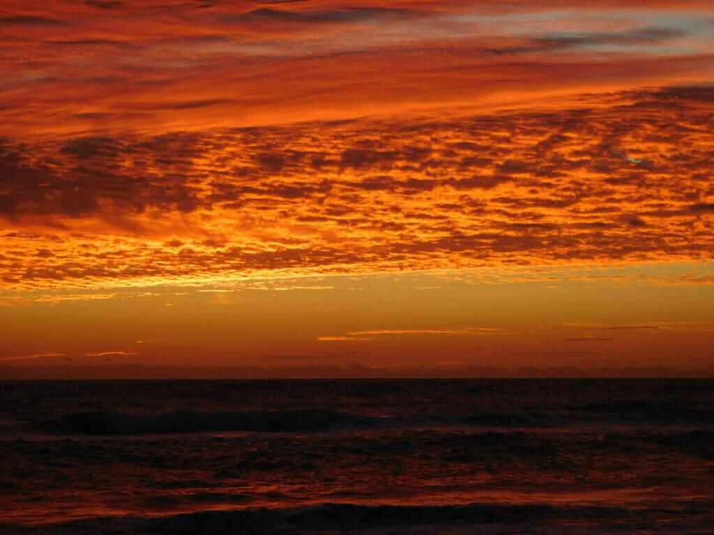 sunset over cocoa beach