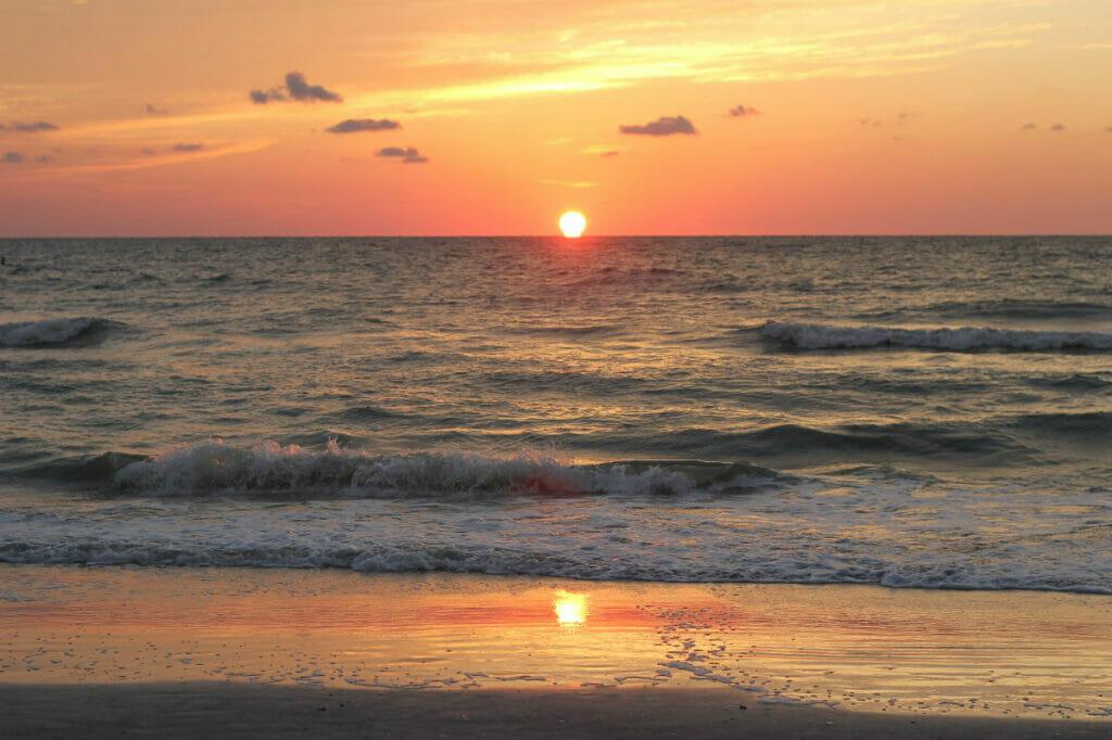 Indian Rocks Beach Florida at sunset