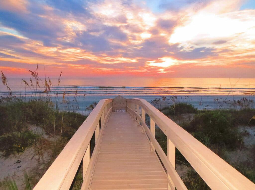 boardwalk at crescent beach florida
