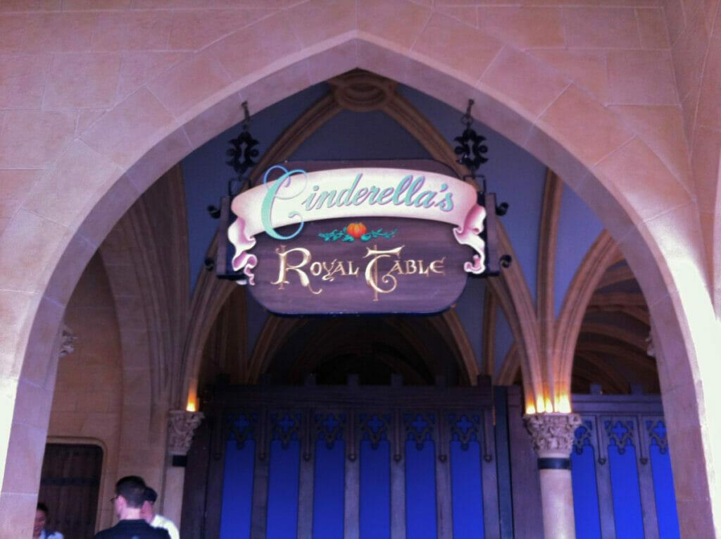 Cinderellas royal table sign