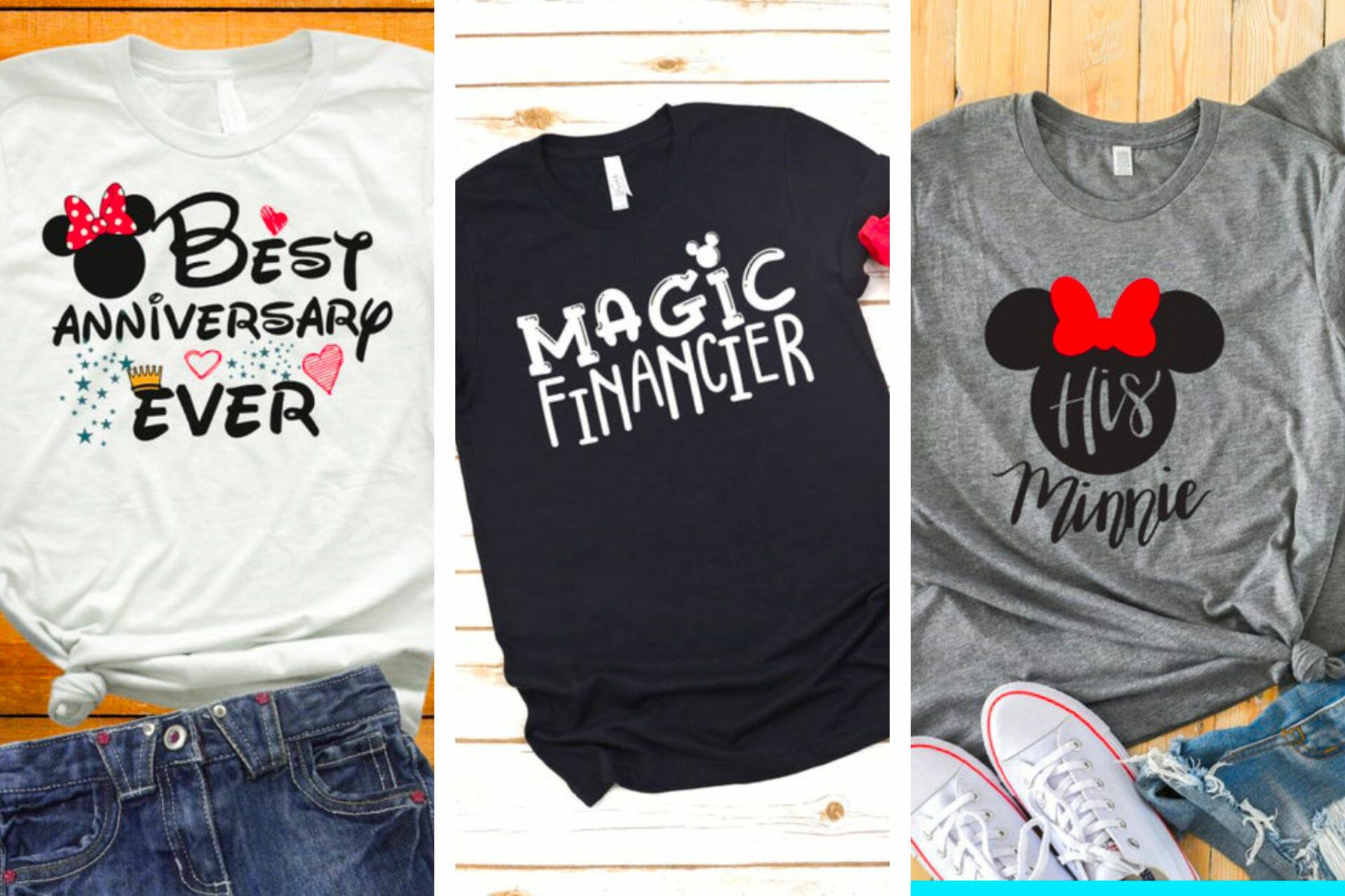 23+ Magical Disney Couple Shirts (Matching + Non-Matching) via @allamericanatlas