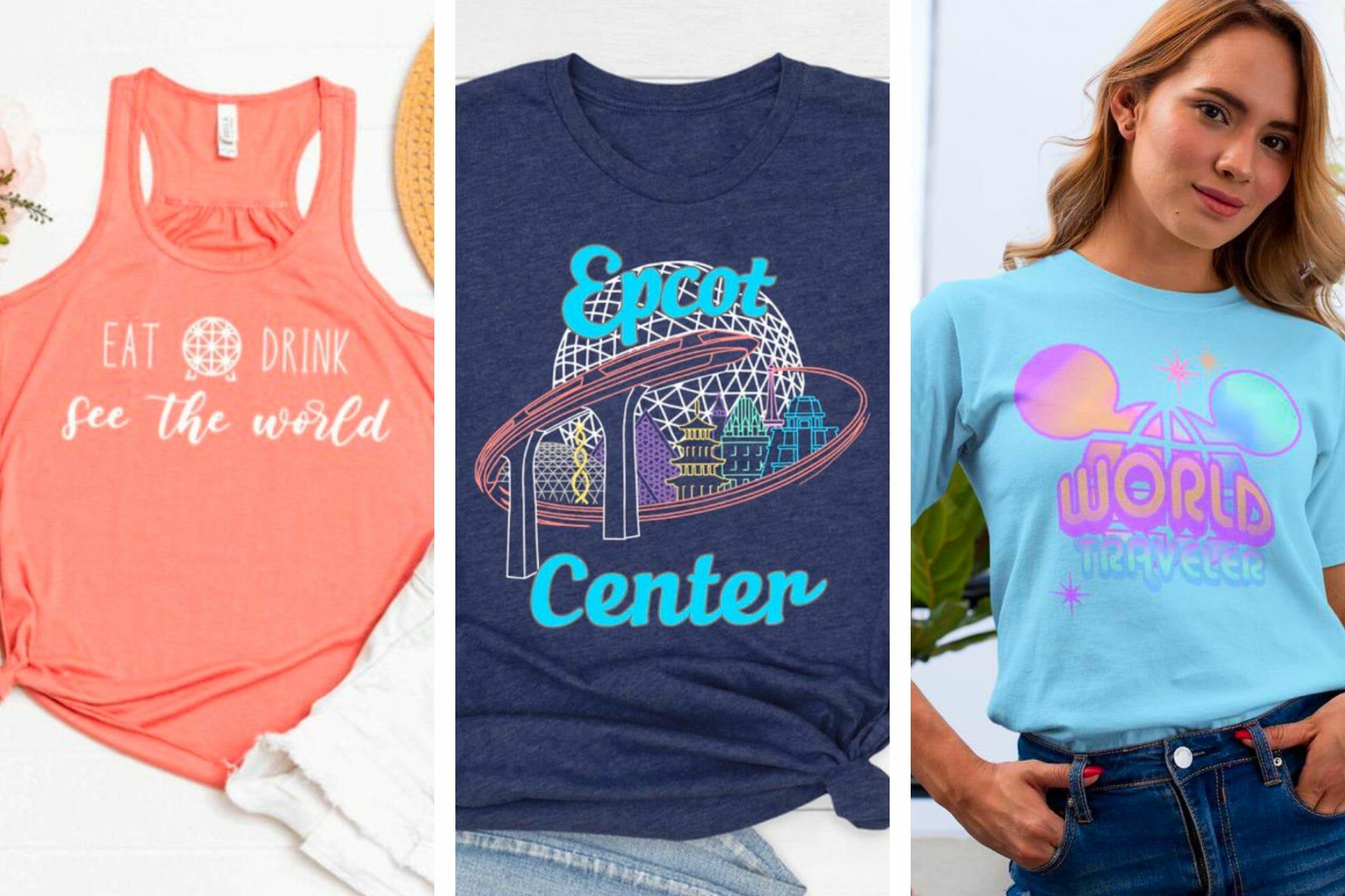 23+ Adorable Epcot Shirts for Disney Fans via @allamericanatlas