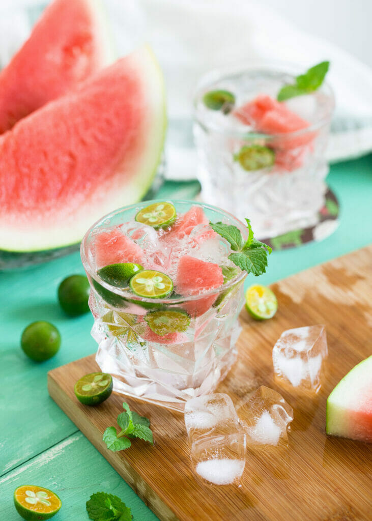 glass of watermelon drink