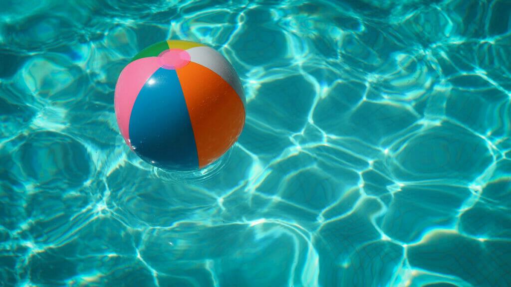 pool with beach ball