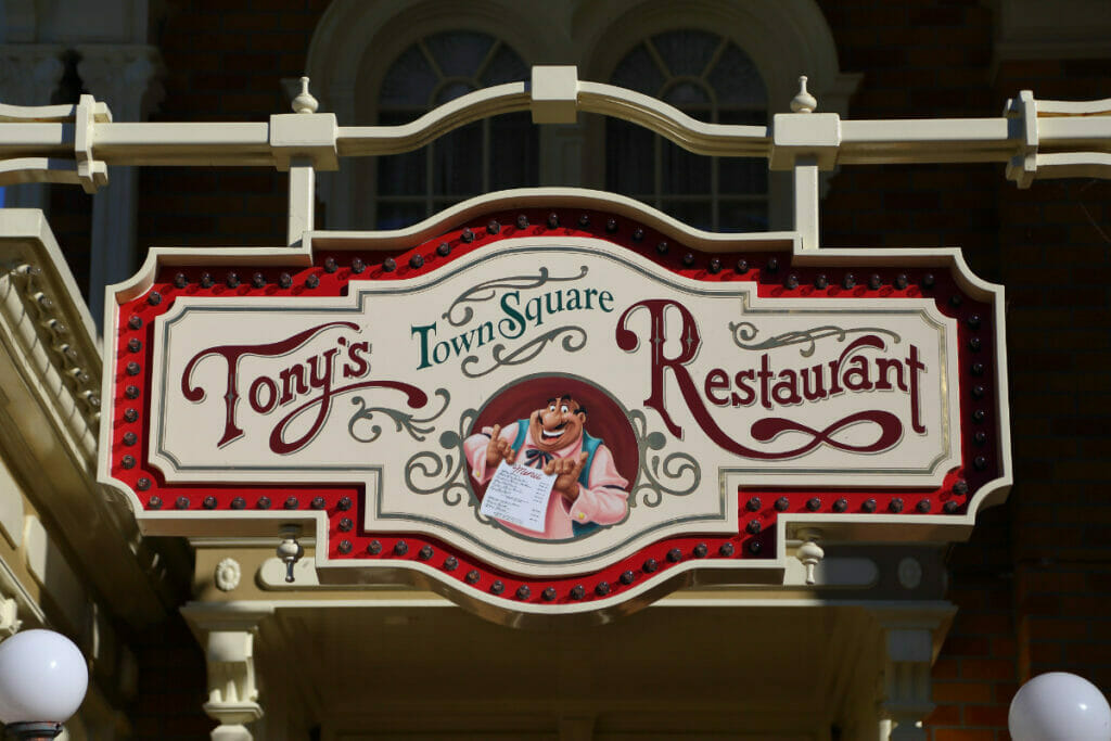 sign at Tony's Town Square Restaurant