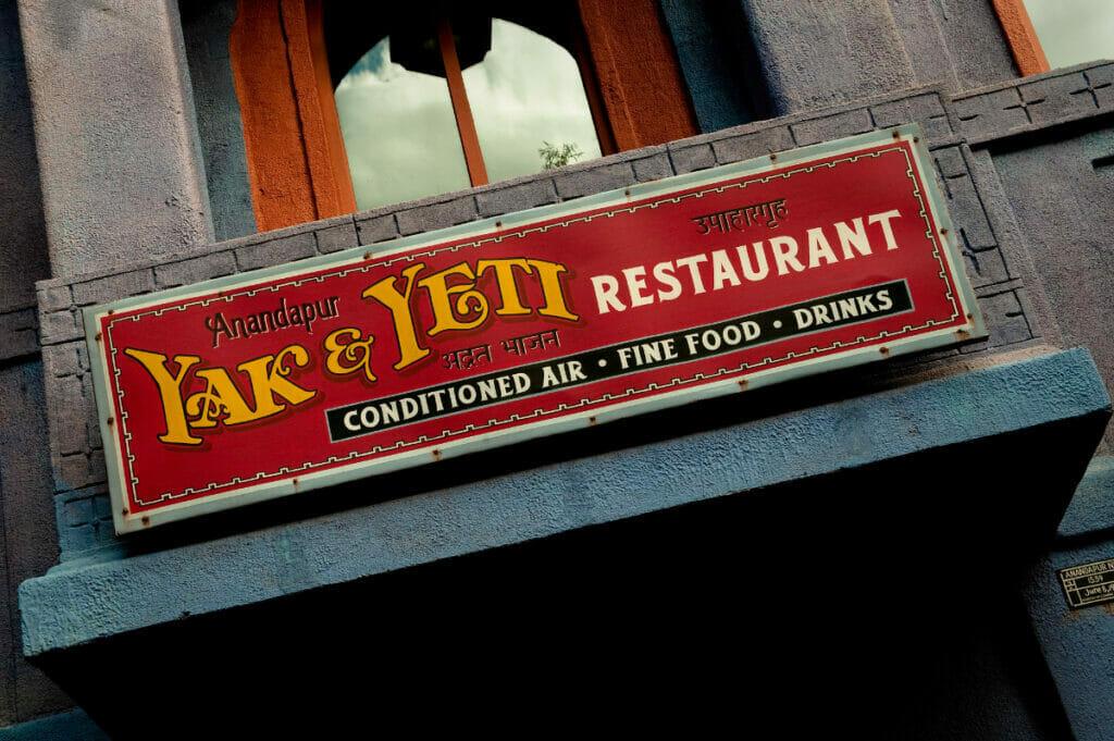Yak and Yeti restaurant sign